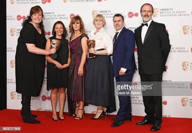 Sally Wainwright Nicola Shindler Siobhan Finneran Sarah Lancashire Con O'Neill and Kevin Doyle winners of the Drama Series award for Happy Valley...