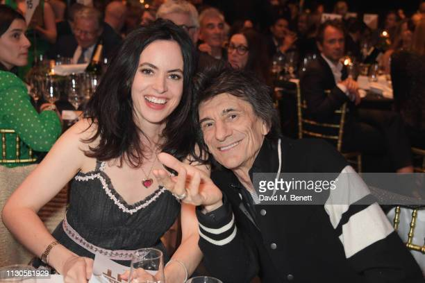 Sally Wood and Ronnie Wood attend the Roundhouse Gala, an evening raising money for the venue's charitable work with young people, at The Roundhouse...