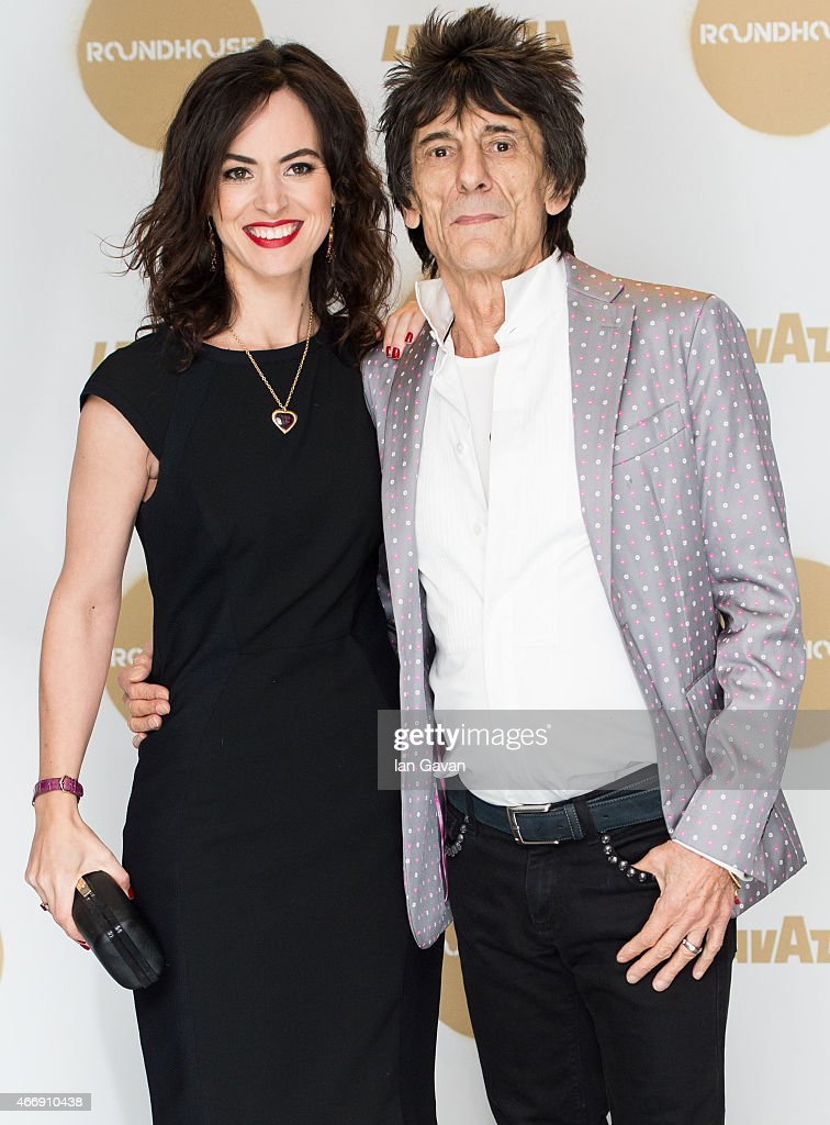 Sally Wood and Ronnie Wood attend The Roundhouse Gala at The Roundhouse on March 19, 2015 in London, England.