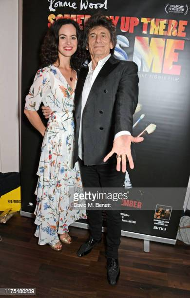 Sally Wood and Ronnie Wood attend the World Premiere after party for Somebody Up There Likes Me during the 63rd BFI London Film Festival at The Deck...