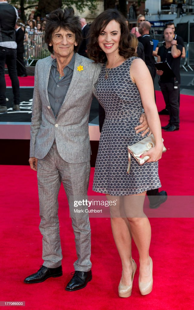 Sally Wood and Ronnie Wood attend the World Premiere of 'One Direction: This Is Us' at Empire Leicester Square on August 20, 2013 in London, England.