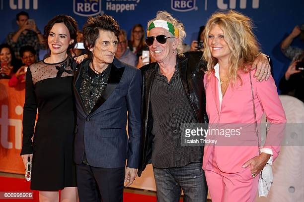 Sally Wood musicians Ronnie Wood Keith Richards and wife Patti Richards attend 'The Rolling Stones Ole Ole Ole A Trip Across Latin America' Premiere...