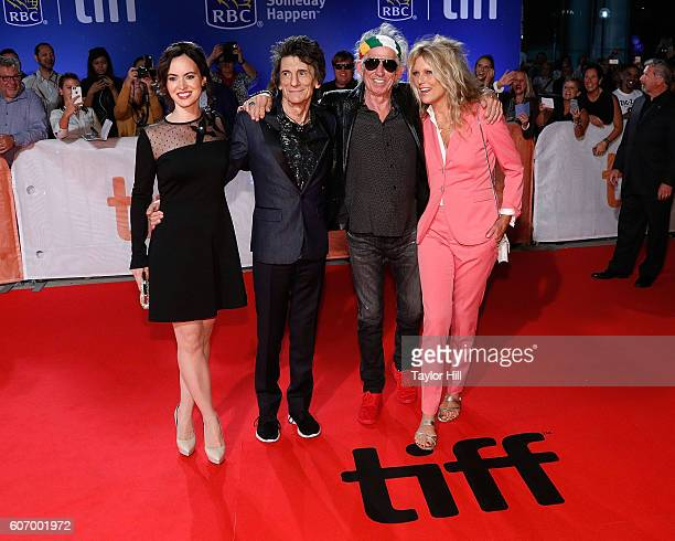 Sally Wood Ron Wood Keith Richards and Patti Hansen attend the premiere of 'The Rolling Stones Ole Ole Ole A Trip Across Latin America' during the...