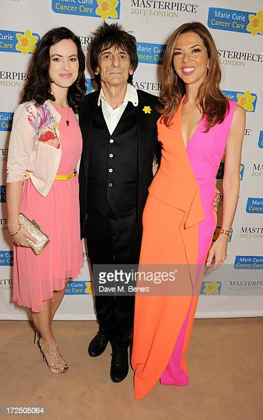 Sally Wood Ronnie Wood and Heather Kerzner attend The Masterpiece Midsummer Party in aid of Marie Curie Cancer Care hosted by Heather Kerzner at The...