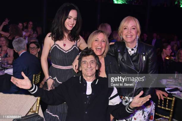 Sally Wood Ronnie Wood Mika Simmons and Sally Greene attend the Roundhouse Gala an evening raising money for the venue's charitable work with young...