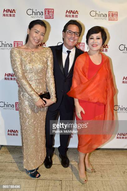Sally Wu Dr Howard Sobel and YueSai Kan attend China Institute 2017 Blue Cloud Gala at Cipriani 25 Broadway on November 2 2017 in New York City