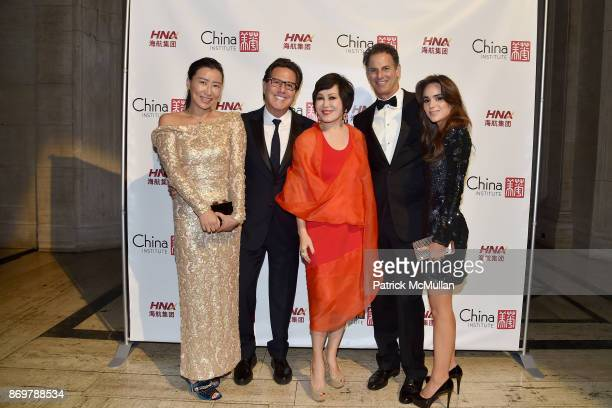 Sally Wu Dr Howard Sobel YueSai Kan Allan Pollack and Brittney Herskowitz attend China Institute 2017 Blue Cloud Gala at Cipriani 25 Broadway on...