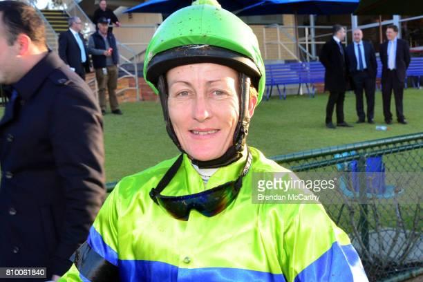 Sally Wynne after winning the A Tribute to Donna Philpot FM BM70 Handicap at Bendigo Racecourse on July 07 2017 in Bendigo Australia