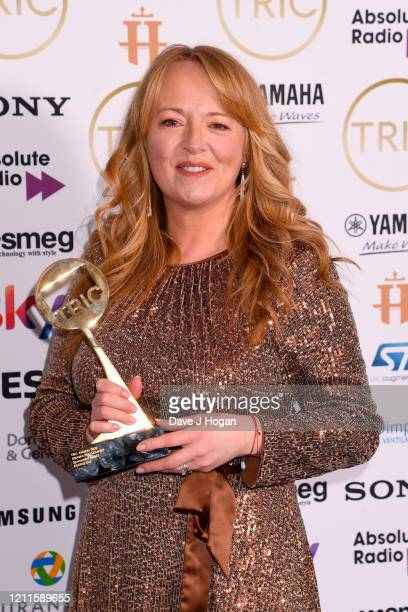 SallyAnne Matthews collects the Drama Programme Award for Killing Eve during the TRIC Awards 2020 at The Grosvenor House Hotel on March 10 2020 in...