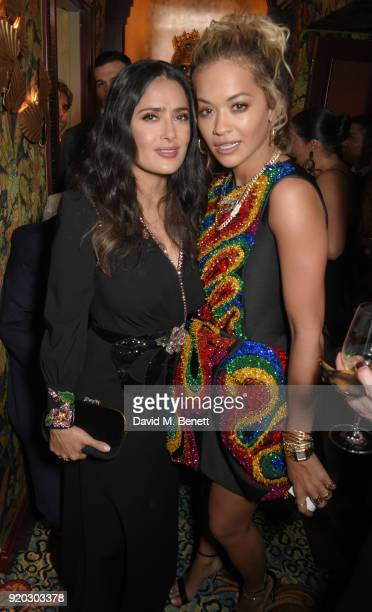 Salma Hayak and Rita Ora attend as Tiffany Co partners with British Vogue Edward Enninful Steve McQueen Kate Moss and Naomi Campbell to celebrate...