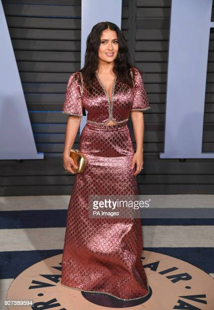 Salma Hayak arriving at the Vanity Fair Oscar Party held in Beverly Hills, Los Angeles, USA.