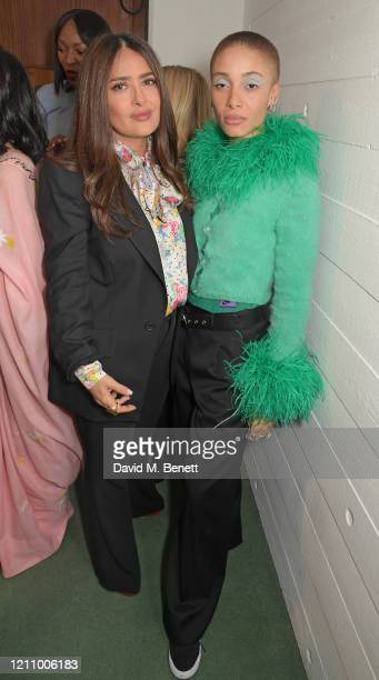 Salma Hayek and Adwoa Aboah attend British Vogue's Forces For Change during the WOW Women Of The World Festival at Southbank Centre on March 07, 2020...
