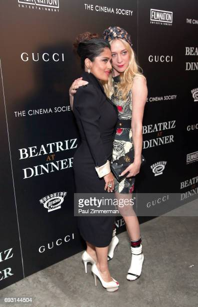 """Salma Hayek and Chloe Sevigny Gucci & The Cinema Society Host A Screening Of Roadside Attractions' """"Beatriz At Dinner"""" at the Metrograph on June 6,..."""