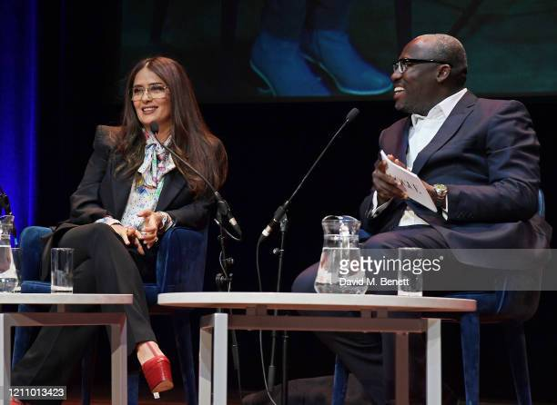 Salma Hayek and Editor-In-Chief of British Vogue Edward Enninful attend British Vogue's Forces For Change during the WOW Women Of The World Festival...