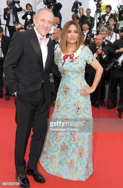 Salma Hayek and Francois- Henri Pinault attend the 70th Anniversary screening during the 70th annual Cannes Film Festival at Palais des Festivals on...