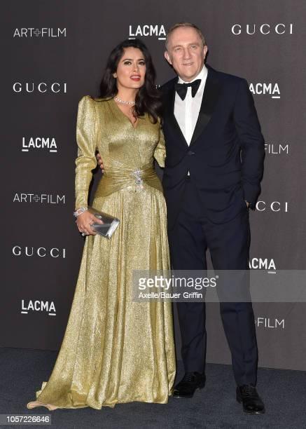 Salma Hayek and Francois-Henri Pinault attend the 2018 LACMA Art + Film Gala at LACMA on November 03, 2018 in Los Angeles, California.