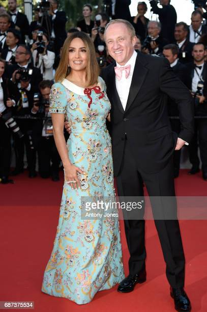 Salma Hayek and FrancoisHenri Pinault attend the 70th Anniversary of the 70th annual Cannes Film Festival at Palais des Festivals on May 23 2017 in...