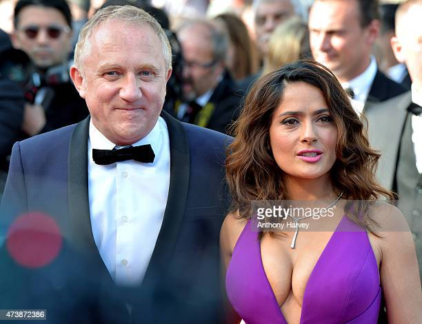 Salma Hayek and FrancoisHenri Pinault attend the Carol premiere during the 68th annual Cannes Film Festival on May 17 2015 in Cannes France