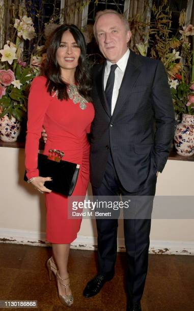 Salma Hayek and Francois-Henri Pinault attend the Francois-Henri Pinault and Sarah Burton dinner In celebration of the Alexander McQueen Old Bond...
