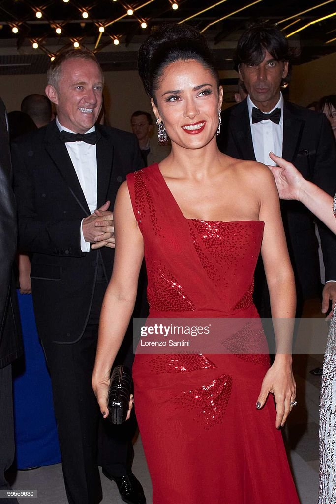 Salma Hayek and Francois-Henri Pinault attend the 'Il Gattopardo' premiere held at the Palais des Festivals of Cannes on May 14, 2010 in Cannes, France.