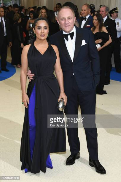 Salma Hayek and FrancoisHenri Pinault attend the 'Rei Kawakubo/Comme des Garcons Art Of The InBetween' Costume Institute Gala at Metropolitan Museum...
