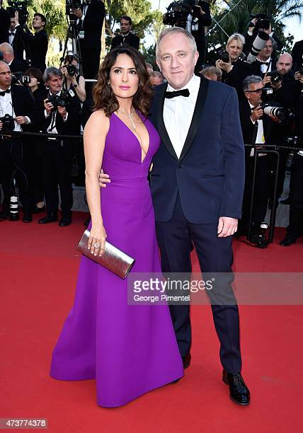 Salma Hayek and FrancoisHenri Pinault attend the 'Rocco And His Brothers' Premiere during the 68th annual Cannes Film Festival on May 17 2015 in...