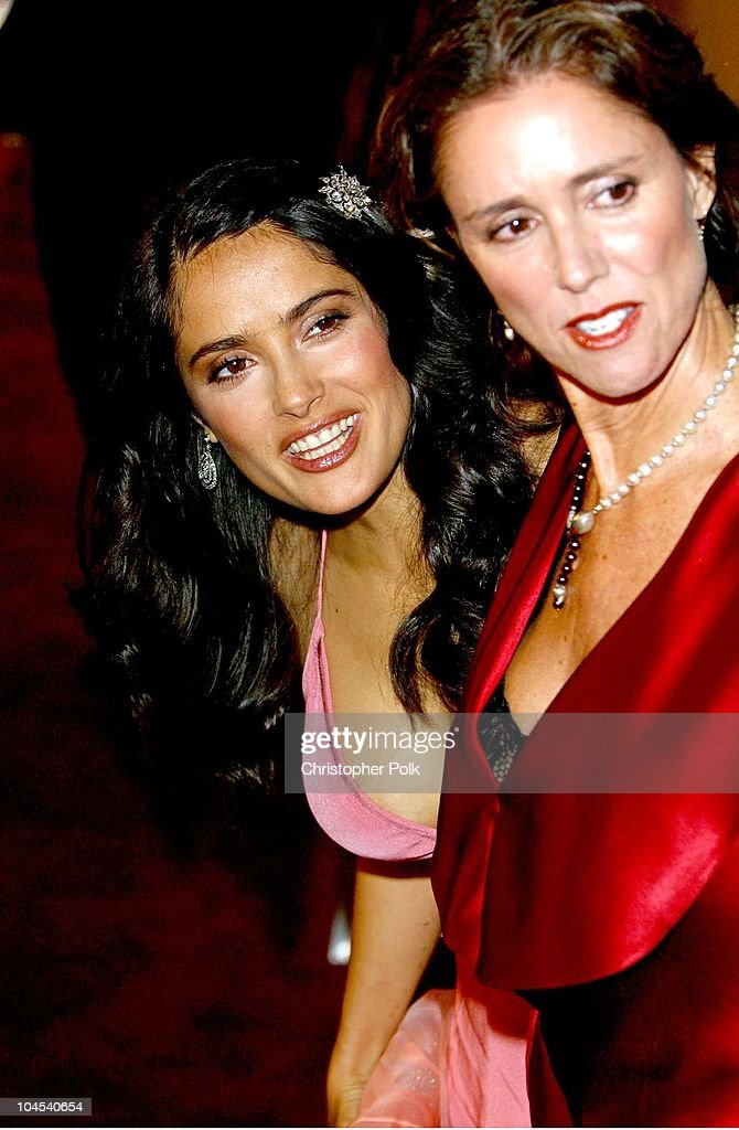 Salma Hayek and Frida director Julie Taymor during 'Frida' Premiere - Arrivals at Los Angeles County Museum of Art in Los Angeles, CA, United States.