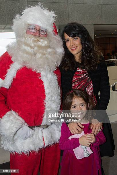 Salma Hayek and her daughter Valentina Paloma Pinault pose before the Don Quichotte Ballet Hosted By 'Reve d'Enfants' Association and AROP at Opera...
