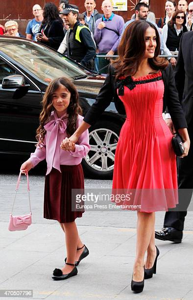 Salma Hayek and her daugther Valentina Pinault attend 'Woman Awards' at Casino de Madrid on April 20, 2015 in Madrid, Spain.