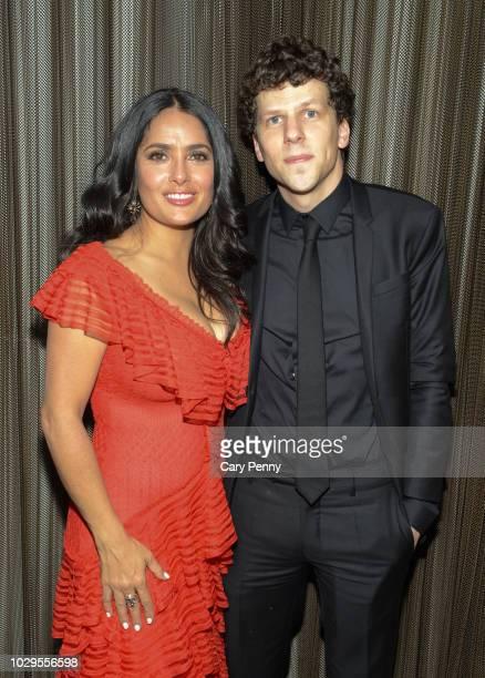 "Salma Hayek and Jesse Eisenberg attend the Cactus Club Cafe and Audi Celebrate ""The Hummingbird Project"" Starring Salma Hayek, Jesse Eisenberg and..."