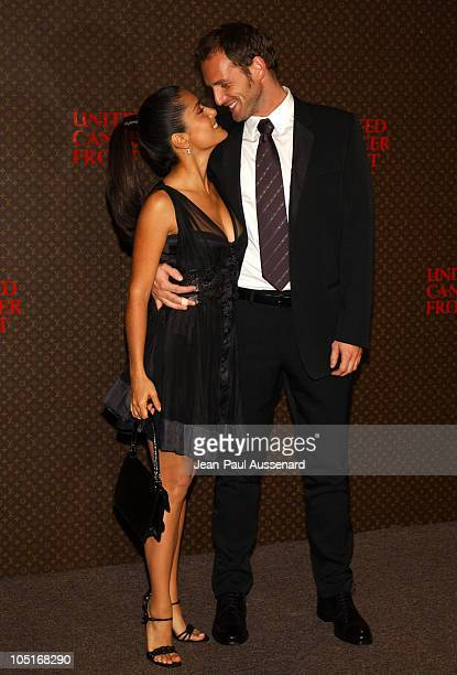 Salma Hayek and Josh Lucas during The Louis Vuitton United Cancer Front Gala - Arrivals at Private Residence in Holmby Hills, California, United...