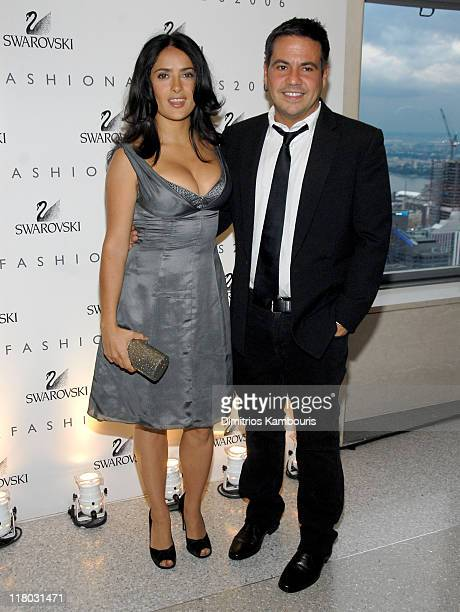 3d4e78776 Salma Hayek and Narciso Rodriguez during 2006 CFDA Awards Swarovski Dinner  at Top of The Rock
