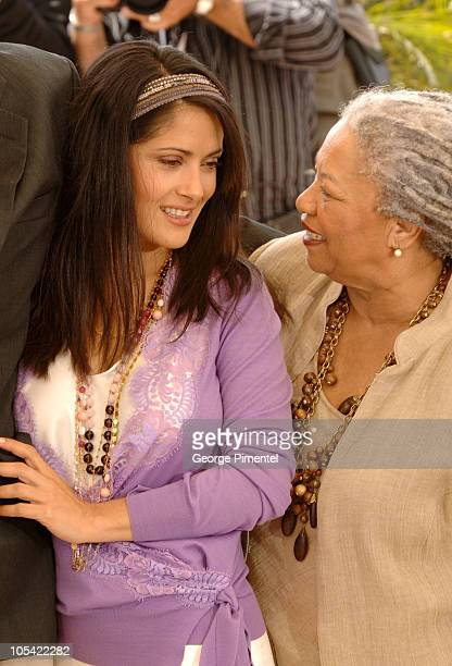 Salma Hayek and Toni Morrison during 2005 Cannes Film Festival Cannes Jury Photo Call at Palais Du Festival in Cannes France