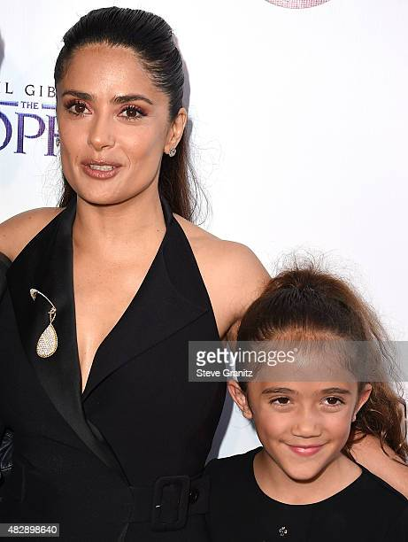 """Salma Hayek and Valentina Paloma Pinault arrives at the Screening Of GKIDS' """"Kahlil Gibran's The Prophet"""" at Bing Theatre At LACMA on July 29, 2015..."""