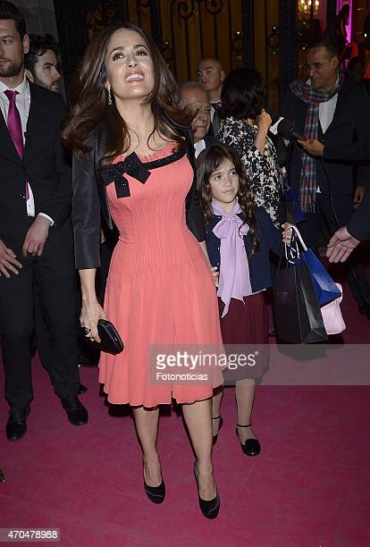 Salma Hayek and Valentina Paloma Pinault attend the 2015 'Woman Awards' Ceremony at the Casino de Madrid on April 20, 2015 in Madrid, Spain.