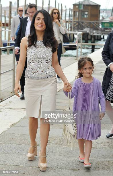Salma Hayek and Valentina Pinault attend Prima Materia VIP Preview on May 29 2013 in Venice Italy