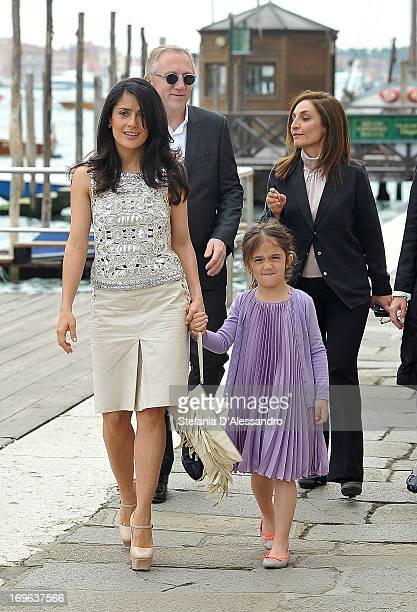 Salma Hayek and Valentina Pinault attend Prima Materia VIP Preview on May 29, 2013 in Venice, Italy.