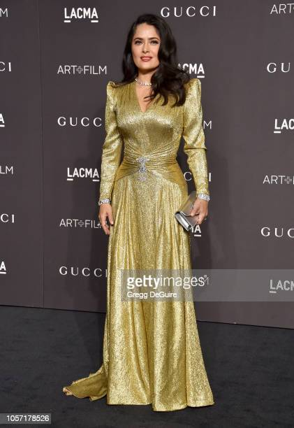 Salma Hayek arrives at the 2018 LACMA Art Film Gala at LACMA on November 3 2018 in Los Angeles California