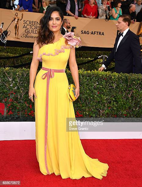 Salma Hayek arrives at the 23rd Annual Screen Actors Guild Awards at The Shrine Expo Hall on January 29 2017 in Los Angeles California