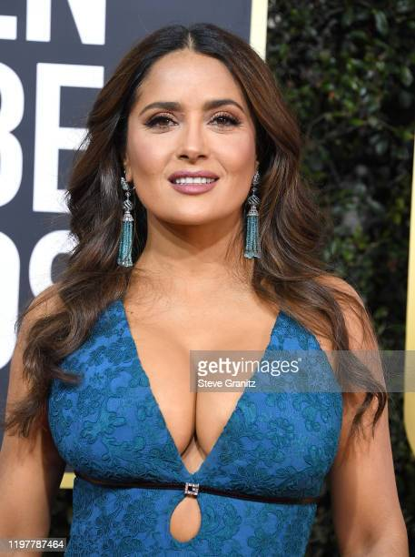 Salma Hayek arrives at the 77th Annual Golden Globe Awards attends the 77th Annual Golden Globe Awards at The Beverly Hilton Hotel on January 05 2020...