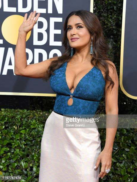 Salma Hayek arrives at the 77th Annual Golden Globe Awards attends the 77th Annual Golden Globe Awards at The Beverly Hilton Hotel on January 05,...