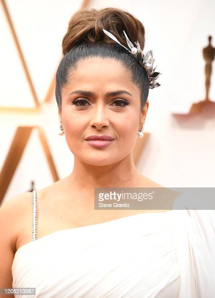 Salma Hayek arrives at the 92nd Annual Academy Awards at Hollywood and Highland on February 09, 2020 in Hollywood, California.