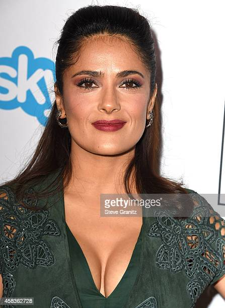 Salma Hayek arrives at the Equality Now's 'Make Equality Reality' Event at Montage Beverly Hills on November 3 2014 in Beverly Hills California
