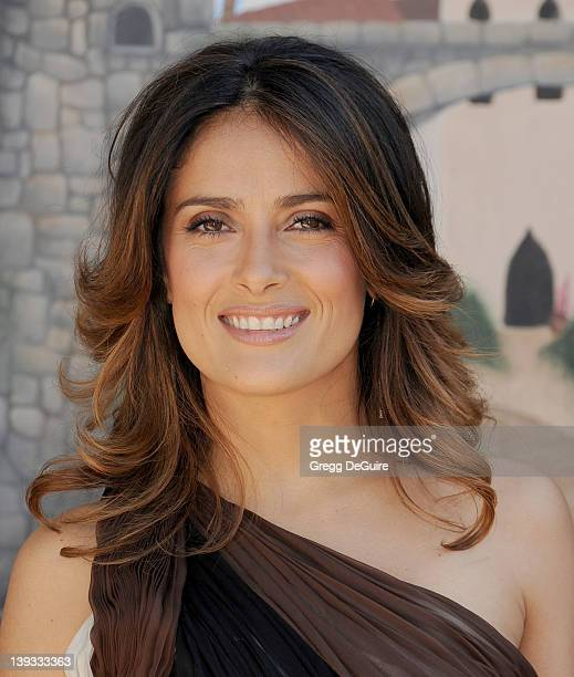 Salma Hayek arrives at the Los Angeles Premiere of Puss In Boots at the Regency Village Theater on October 23 2011 in Westwood California