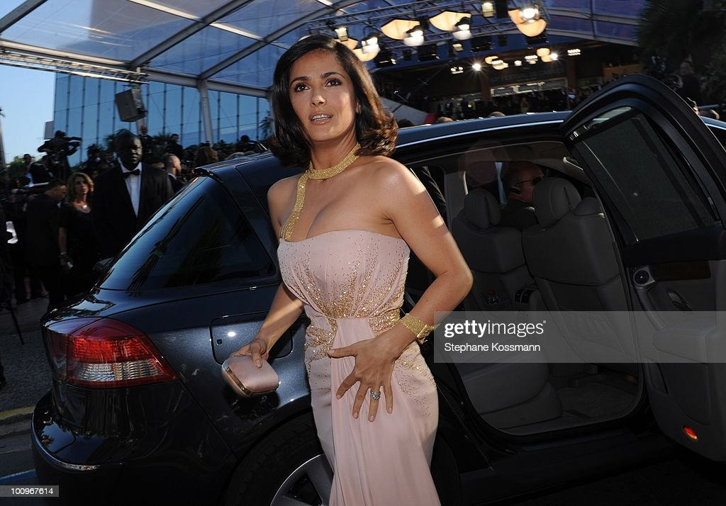 Salma Hayek arrives at the Palais du Festivals during the 63rd Annual International Cannes Film Festival on May 23, 2010 in Cannes, France.