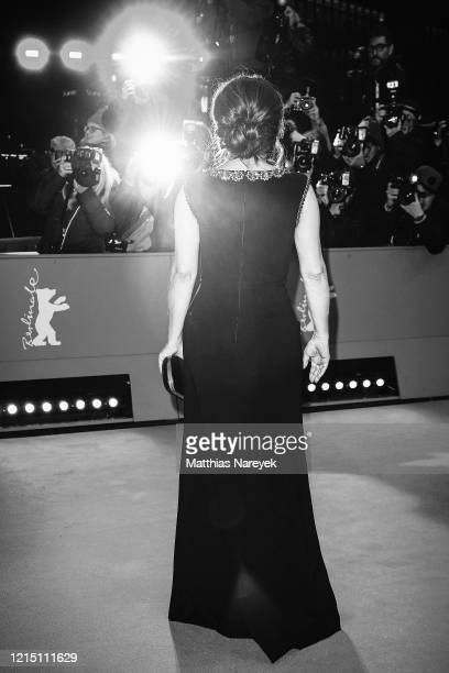 "Salma Hayek arrives for the ""The Roads Not Taken"" premiere during the 70th Berlinale International Film Festival Berlin at Berlinale Palace on..."