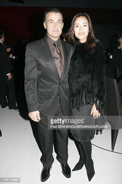 Salma Hayek at launch party for the new Cartier watch LA DONA DE CARTIER in Geneva Switzerland on April 03 2006 Jean Alesi and his wife