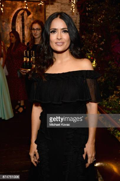 Salma Hayek at Moet Celebrates The 75th Anniversary of The Golden Globes Award Season at Catch LA on November 15 2017 in West Hollywood California