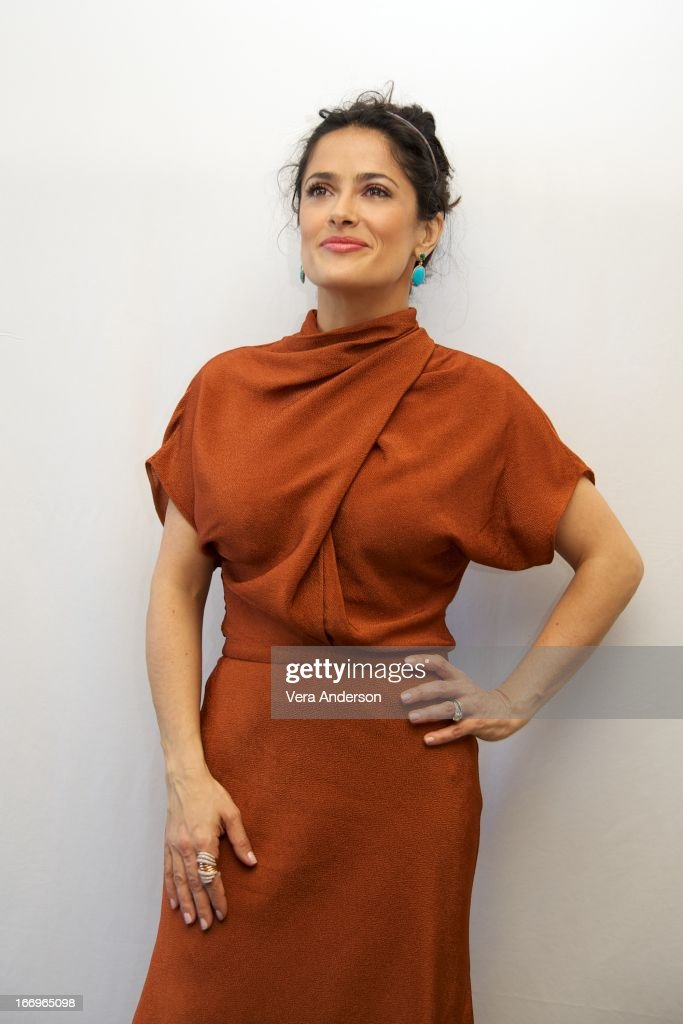 Salma Hayek at the 'Grown Ups 2' Press Junket on April 18, 2013 in Cancun, Mexico.