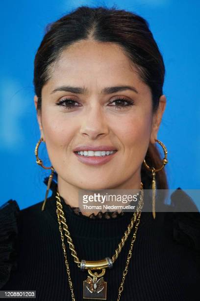 """Salma Hayek at the """"The Roads Not Taken"""" photo call during the 70th Berlinale International Film Festival Berlin at Grand Hyatt Hotel on February 26,..."""